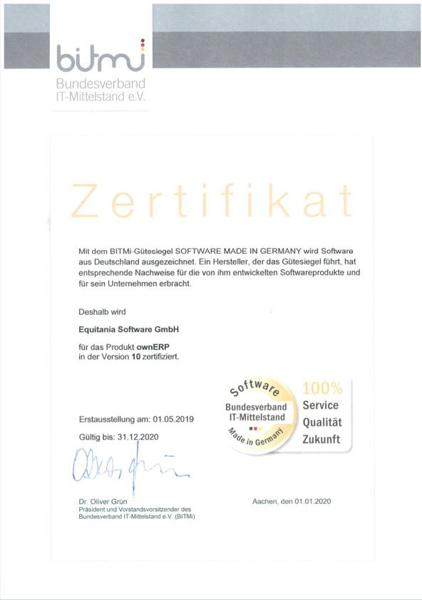 Zertifikate Software Made in Germany